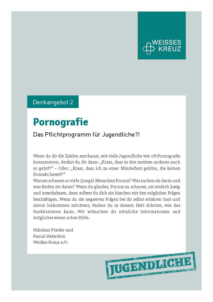 Denkangebot Nr. 2 - Pornografie Jugend